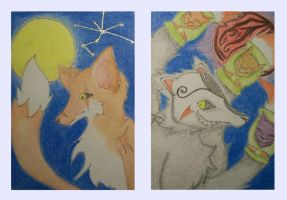 ACEO Ninetails by Shimyo