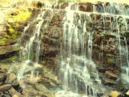 Glacial Falling Waters by loathsome-weasel