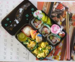 Year of the Rabbit Bento by KatyCrayon