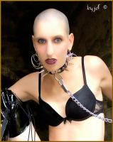 fetish collared and leash cliona angel by jef-photos
