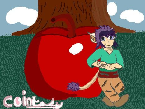 Minumine and the apple  by Cointasy