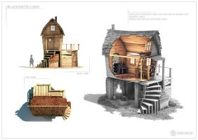 Blacksmith Cabin - Design sheet two by Capital---G