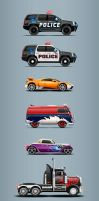 Police chase cars by TGalexTG