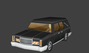 Simpsons Hit and Run hearse by Jason278