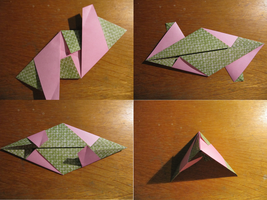 30 modules origami step by step : step 1.2 by human-chaos