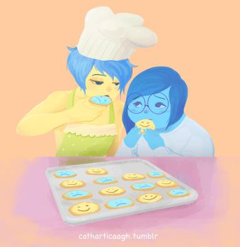 Joy x Sadness cookies by catharticaagh