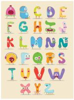 Monster Alphabet by mjdaluz