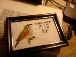 Tweet tweet piss off cross stitch by TsDott