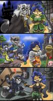 Sly and Carmelita PSX Heroes by shinragod