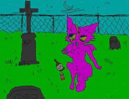 getting high in a graveyard!!! by destroyallantz