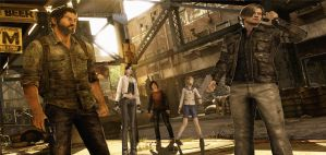 Leon,Sherry and Claire in The Last of Us wallpaper by Hatredboy