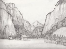 Landscape Sketch 9 by Whimsy-Floof