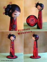 Princess Muladhara Kokeshi Doll by ZanetaGc