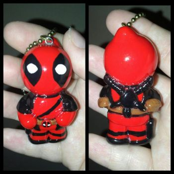 Deadpool Polymer Clay Chibi Ornament/Keychain by ShadyDarkGirl