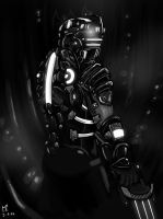 Painting - Dead Space by Marrazan
