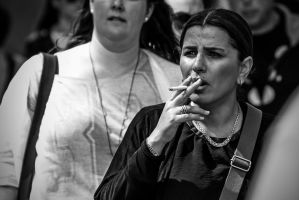 The smoking woman by attomanen