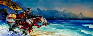 Genji rides into the surf by aaronboydarts