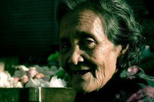 Portrait of an Old Woman by rachelarandilla