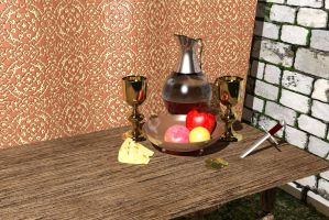 Medieval Table Scene by TheHerdman