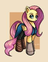 Fluttershy Targaryen by TheLivingShadow