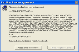 Error Message EULA WTF by FLCLover