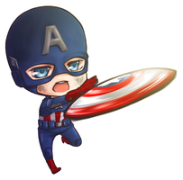 :Trade: Chibi Captain America by PrinceOfRedroses