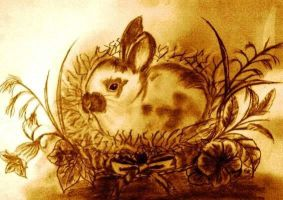 Bunny in Flovers by Tomek2289