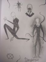 Slenderman Sketch Dump by RiaVeg