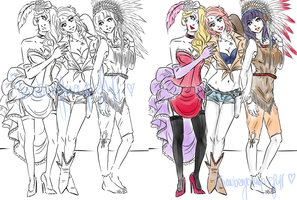 Ladies of the Wild West. by Yui-Sakaino