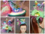 Spring Inspired Mad Hatter Mini Hat Fascinator by AbsolutelyFascinated