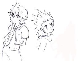 Axel And Roxas by Hug-Dealer