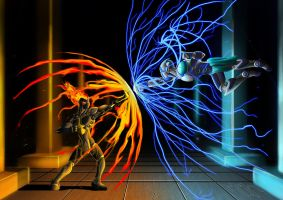 Ifrit Vs Raijin by KryptnKnight