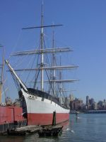 Ship at South Street Seaport by ArtieWallace