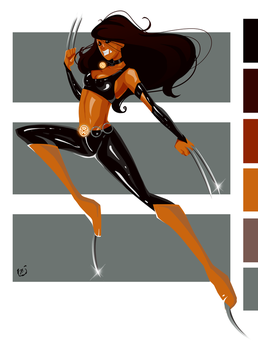 Palette challenge. KaruSil as X23 by AkEshiba