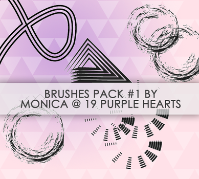 Brushes Pack 1 by 19 Purple Hearts by mon1chka