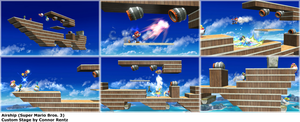 Smash Bros. Custom Stages - Airship (SMB3) by MachRiderZ