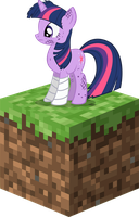Custom Hurt Twilight Sparkle Minecraft Icon by PaperDerp