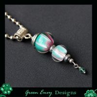 green and purple pendant by green-envy-designs
