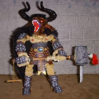 Minotaur Figure with Crowbill by the-gil-monster