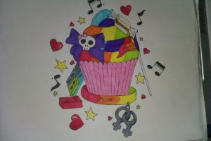 Gay pride cuppycake by xXx-Alex