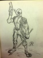 Dead Pool Con sketch two by JoeyVazquez