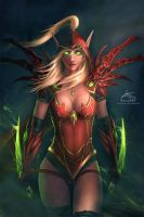 Warcraft: Valeera Sanguinar by raikoart