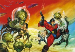 Mr Monster's Mars Massacre by DAVE DORMAN by DeevElliott