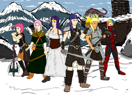 MLP Mane Cast at Skyrim WIP by glue123