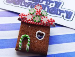 Gingerbread House Brooch 1 by tyney123