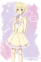 Len in his summer dress by Psy-rin