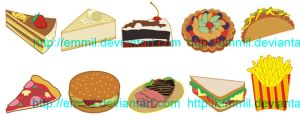 FOR SALE! Vector food by art-adoption