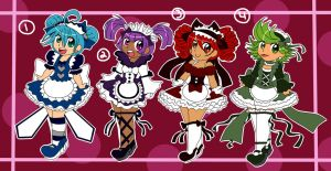 Maid Adoptables 20pts each (closed) by BrownieTheif