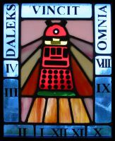 Stained Glass Dalek Sundial by Sophonax-Skitty