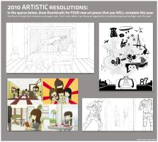 four artworks for 2010 meme by jgizzy